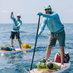 Previous Outdoor Adventures staff raises funds, crosses Lake Michigan on paddleboard